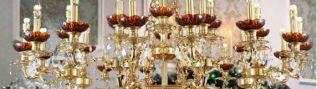 Хрустальные люстры и бра со скидкой  25%. Москва